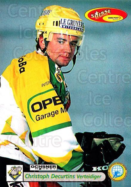 2001-02 Swiss Ice Hockey Cards #380 Christoph Decurtins<br/>2 In Stock - $2.00 each - <a href=https://centericecollectibles.foxycart.com/cart?name=2001-02%20Swiss%20Ice%20Hockey%20Cards%20%23380%20Christoph%20Decur...&quantity_max=2&price=$2.00&code=220925 class=foxycart> Buy it now! </a>