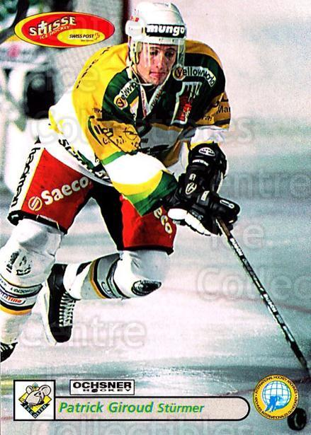 2001-02 Swiss Ice Hockey Cards #389 Patrick Girod<br/>2 In Stock - $2.00 each - <a href=https://centericecollectibles.foxycart.com/cart?name=2001-02%20Swiss%20Ice%20Hockey%20Cards%20%23389%20Patrick%20Girod...&quantity_max=2&price=$2.00&code=220934 class=foxycart> Buy it now! </a>