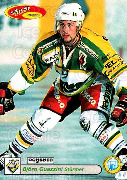 2001-02 Swiss Ice Hockey Cards #390 Bjorn Guazzini<br/>2 In Stock - $2.00 each - <a href=https://centericecollectibles.foxycart.com/cart?name=2001-02%20Swiss%20Ice%20Hockey%20Cards%20%23390%20Bjorn%20Guazzini...&quantity_max=2&price=$2.00&code=220935 class=foxycart> Buy it now! </a>