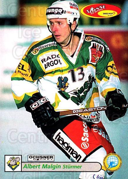 2001-02 Swiss Ice Hockey Cards #391 Albert Malgin<br/>2 In Stock - $2.00 each - <a href=https://centericecollectibles.foxycart.com/cart?name=2001-02%20Swiss%20Ice%20Hockey%20Cards%20%23391%20Albert%20Malgin...&quantity_max=2&price=$2.00&code=220936 class=foxycart> Buy it now! </a>