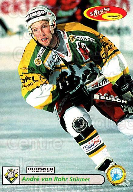 2001-02 Swiss Ice Hockey Cards #394 Andre Von Rohr<br/>2 In Stock - $2.00 each - <a href=https://centericecollectibles.foxycart.com/cart?name=2001-02%20Swiss%20Ice%20Hockey%20Cards%20%23394%20Andre%20Von%20Rohr...&quantity_max=2&price=$2.00&code=220939 class=foxycart> Buy it now! </a>