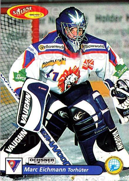 2001-02 Swiss Ice Hockey Cards #398 Marc Eichmann<br/>2 In Stock - $2.00 each - <a href=https://centericecollectibles.foxycart.com/cart?name=2001-02%20Swiss%20Ice%20Hockey%20Cards%20%23398%20Marc%20Eichmann...&quantity_max=2&price=$2.00&code=220943 class=foxycart> Buy it now! </a>