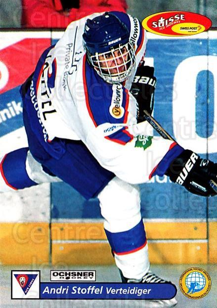 2001-02 Swiss Ice Hockey Cards #404 Andri Stoffel<br/>2 In Stock - $2.00 each - <a href=https://centericecollectibles.foxycart.com/cart?name=2001-02%20Swiss%20Ice%20Hockey%20Cards%20%23404%20Andri%20Stoffel...&quantity_max=2&price=$2.00&code=220949 class=foxycart> Buy it now! </a>
