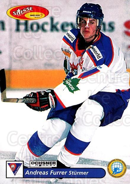 2001-02 Swiss Ice Hockey Cards #405 Andreas Furrer<br/>2 In Stock - $2.00 each - <a href=https://centericecollectibles.foxycart.com/cart?name=2001-02%20Swiss%20Ice%20Hockey%20Cards%20%23405%20Andreas%20Furrer...&quantity_max=2&price=$2.00&code=220950 class=foxycart> Buy it now! </a>