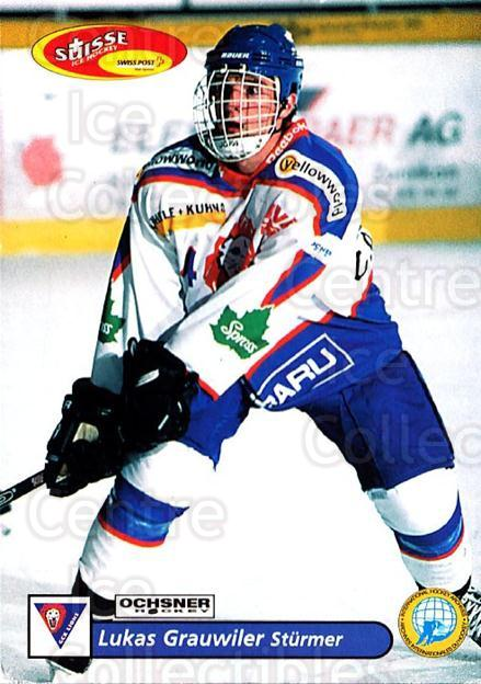 2001-02 Swiss Ice Hockey Cards #406 Lukas Grauwiler<br/>1 In Stock - $2.00 each - <a href=https://centericecollectibles.foxycart.com/cart?name=2001-02%20Swiss%20Ice%20Hockey%20Cards%20%23406%20Lukas%20Grauwiler...&quantity_max=1&price=$2.00&code=220951 class=foxycart> Buy it now! </a>