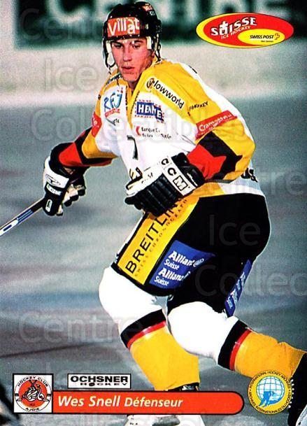 2001-02 Swiss Ice Hockey Cards #424 Wes Snell<br/>2 In Stock - $2.00 each - <a href=https://centericecollectibles.foxycart.com/cart?name=2001-02%20Swiss%20Ice%20Hockey%20Cards%20%23424%20Wes%20Snell...&quantity_max=2&price=$2.00&code=220969 class=foxycart> Buy it now! </a>