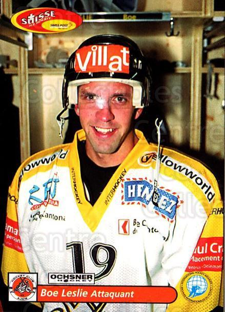 2001-02 Swiss Ice Hockey Cards #435 Bob Leslie<br/>2 In Stock - $2.00 each - <a href=https://centericecollectibles.foxycart.com/cart?name=2001-02%20Swiss%20Ice%20Hockey%20Cards%20%23435%20Bob%20Leslie...&quantity_max=2&price=$2.00&code=220980 class=foxycart> Buy it now! </a>