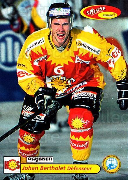 2001-02 Swiss Ice Hockey Cards #442 Johan Bertholet<br/>2 In Stock - $2.00 each - <a href=https://centericecollectibles.foxycart.com/cart?name=2001-02%20Swiss%20Ice%20Hockey%20Cards%20%23442%20Johan%20Bertholet...&quantity_max=2&price=$2.00&code=220987 class=foxycart> Buy it now! </a>