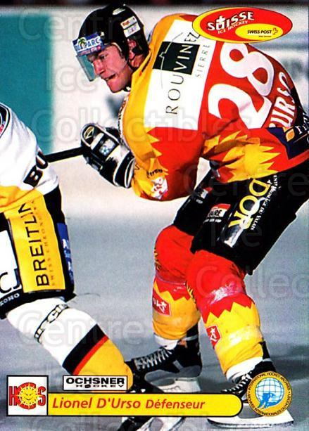 2001-02 Swiss Ice Hockey Cards #443 Lionel D'Urso<br/>2 In Stock - $2.00 each - <a href=https://centericecollectibles.foxycart.com/cart?name=2001-02%20Swiss%20Ice%20Hockey%20Cards%20%23443%20Lionel%20D'Urso...&quantity_max=2&price=$2.00&code=220988 class=foxycart> Buy it now! </a>