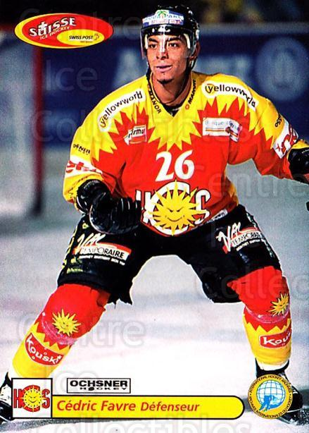 2001-02 Swiss Ice Hockey Cards #444 Cedric Favre<br/>3 In Stock - $2.00 each - <a href=https://centericecollectibles.foxycart.com/cart?name=2001-02%20Swiss%20Ice%20Hockey%20Cards%20%23444%20Cedric%20Favre...&quantity_max=3&price=$2.00&code=220989 class=foxycart> Buy it now! </a>