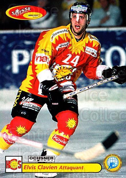 2001-02 Swiss Ice Hockey Cards #449 Elvis Clavien<br/>2 In Stock - $2.00 each - <a href=https://centericecollectibles.foxycart.com/cart?name=2001-02%20Swiss%20Ice%20Hockey%20Cards%20%23449%20Elvis%20Clavien...&quantity_max=2&price=$2.00&code=220994 class=foxycart> Buy it now! </a>