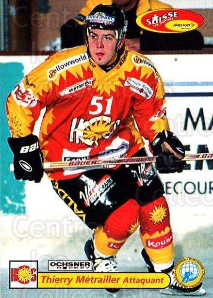 2001-02 Swiss Ice Hockey Cards #455 Thierry Metrailler<br/>2 In Stock - $2.00 each - <a href=https://centericecollectibles.foxycart.com/cart?name=2001-02%20Swiss%20Ice%20Hockey%20Cards%20%23455%20Thierry%20Metrail...&quantity_max=2&price=$2.00&code=221000 class=foxycart> Buy it now! </a>