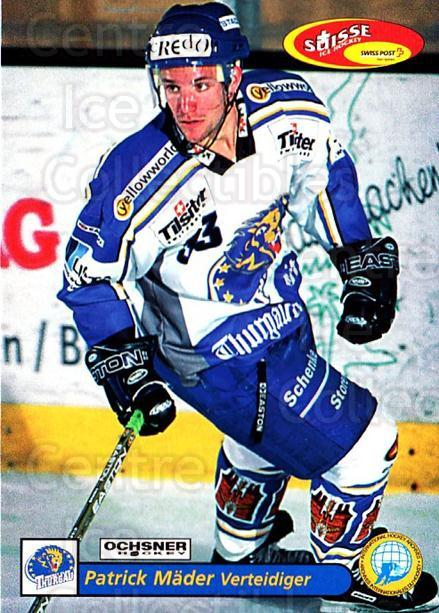 2001-02 Swiss Ice Hockey Cards #466 Patrick Mader<br/>2 In Stock - $2.00 each - <a href=https://centericecollectibles.foxycart.com/cart?name=2001-02%20Swiss%20Ice%20Hockey%20Cards%20%23466%20Patrick%20Mader...&quantity_max=2&price=$2.00&code=221011 class=foxycart> Buy it now! </a>