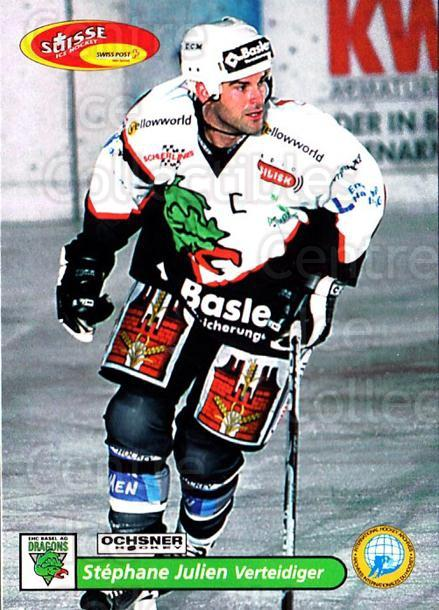 2001-02 Swiss Ice Hockey Cards #486 Stephane Julien<br/>2 In Stock - $2.00 each - <a href=https://centericecollectibles.foxycart.com/cart?name=2001-02%20Swiss%20Ice%20Hockey%20Cards%20%23486%20Stephane%20Julien...&quantity_max=2&price=$2.00&code=221031 class=foxycart> Buy it now! </a>