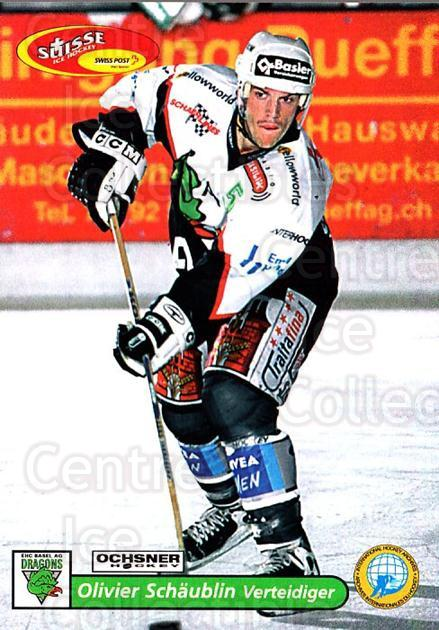 2001-02 Swiss Ice Hockey Cards #488 Olivier Schaublin<br/>2 In Stock - $2.00 each - <a href=https://centericecollectibles.foxycart.com/cart?name=2001-02%20Swiss%20Ice%20Hockey%20Cards%20%23488%20Olivier%20Schaubl...&quantity_max=2&price=$2.00&code=221033 class=foxycart> Buy it now! </a>