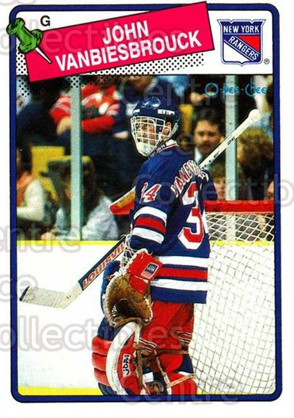 1988-89 O-Pee-Chee #102 John Vanbiesbrouck<br/>6 In Stock - $1.00 each - <a href=https://centericecollectibles.foxycart.com/cart?name=1988-89%20O-Pee-Chee%20%23102%20John%20Vanbiesbro...&quantity_max=6&price=$1.00&code=22134 class=foxycart> Buy it now! </a>