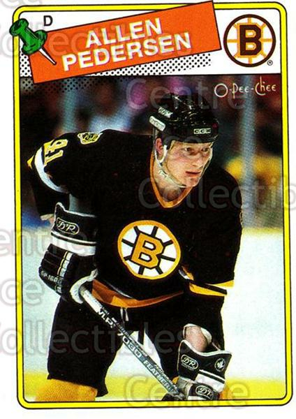 1988-89 O-Pee-Chee #103 Allen Pedersen<br/>9 In Stock - $1.00 each - <a href=https://centericecollectibles.foxycart.com/cart?name=1988-89%20O-Pee-Chee%20%23103%20Allen%20Pedersen...&quantity_max=9&price=$1.00&code=22135 class=foxycart> Buy it now! </a>