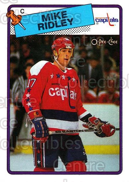 1988-89 O-Pee-Chee #104 Mike Ridley<br/>12 In Stock - $1.00 each - <a href=https://centericecollectibles.foxycart.com/cart?name=1988-89%20O-Pee-Chee%20%23104%20Mike%20Ridley...&quantity_max=12&price=$1.00&code=22136 class=foxycart> Buy it now! </a>
