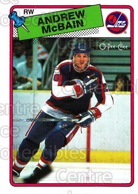 1988-89 O-Pee-Chee #105 Andrew McBain<br/>11 In Stock - $1.00 each - <a href=https://centericecollectibles.foxycart.com/cart?name=1988-89%20O-Pee-Chee%20%23105%20Andrew%20McBain...&quantity_max=11&price=$1.00&code=22137 class=foxycart> Buy it now! </a>