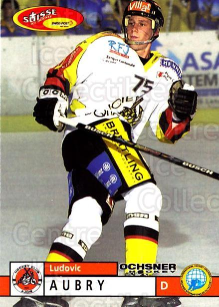 2002-03 Swiss Ice Hockey Cards #354 Ludovic Aubry<br/>2 In Stock - $2.00 each - <a href=https://centericecollectibles.foxycart.com/cart?name=2002-03%20Swiss%20Ice%20Hockey%20Cards%20%23354%20Ludovic%20Aubry...&quantity_max=2&price=$2.00&code=221399 class=foxycart> Buy it now! </a>