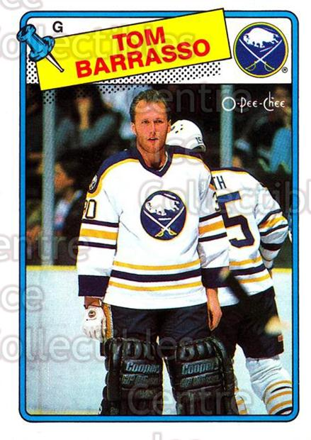 1988-89 O-Pee-Chee #107 Tom Barrasso<br/>8 In Stock - $1.00 each - <a href=https://centericecollectibles.foxycart.com/cart?name=1988-89%20O-Pee-Chee%20%23107%20Tom%20Barrasso...&quantity_max=8&price=$1.00&code=22139 class=foxycart> Buy it now! </a>