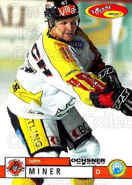 2002-03 Swiss Ice Hockey Cards #356 John Miner<br/>1 In Stock - $2.00 each - <a href=https://centericecollectibles.foxycart.com/cart?name=2002-03%20Swiss%20Ice%20Hockey%20Cards%20%23356%20John%20Miner...&quantity_max=1&price=$2.00&code=221401 class=foxycart> Buy it now! </a>