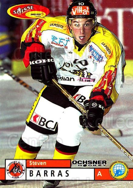 2002-03 Swiss Ice Hockey Cards #362 Steven Barras<br/>2 In Stock - $2.00 each - <a href=https://centericecollectibles.foxycart.com/cart?name=2002-03%20Swiss%20Ice%20Hockey%20Cards%20%23362%20Steven%20Barras...&price=$2.00&code=221407 class=foxycart> Buy it now! </a>