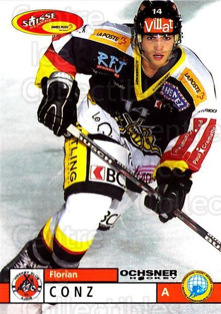 2002-03 Swiss Ice Hockey Cards #364 Florian Conz<br/>3 In Stock - $2.00 each - <a href=https://centericecollectibles.foxycart.com/cart?name=2002-03%20Swiss%20Ice%20Hockey%20Cards%20%23364%20Florian%20Conz...&quantity_max=3&price=$2.00&code=221409 class=foxycart> Buy it now! </a>