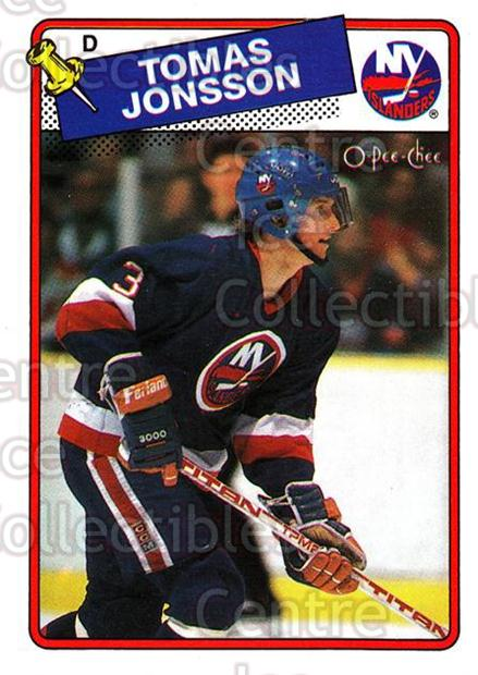 1988-89 O-Pee-Chee #108 Tomas Jonsson<br/>9 In Stock - $1.00 each - <a href=https://centericecollectibles.foxycart.com/cart?name=1988-89%20O-Pee-Chee%20%23108%20Tomas%20Jonsson...&quantity_max=9&price=$1.00&code=22140 class=foxycart> Buy it now! </a>