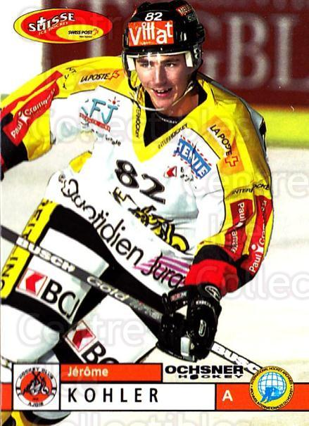 2002-03 Swiss Ice Hockey Cards #367 Jerome Kohler<br/>2 In Stock - $2.00 each - <a href=https://centericecollectibles.foxycart.com/cart?name=2002-03%20Swiss%20Ice%20Hockey%20Cards%20%23367%20Jerome%20Kohler...&quantity_max=2&price=$2.00&code=221412 class=foxycart> Buy it now! </a>