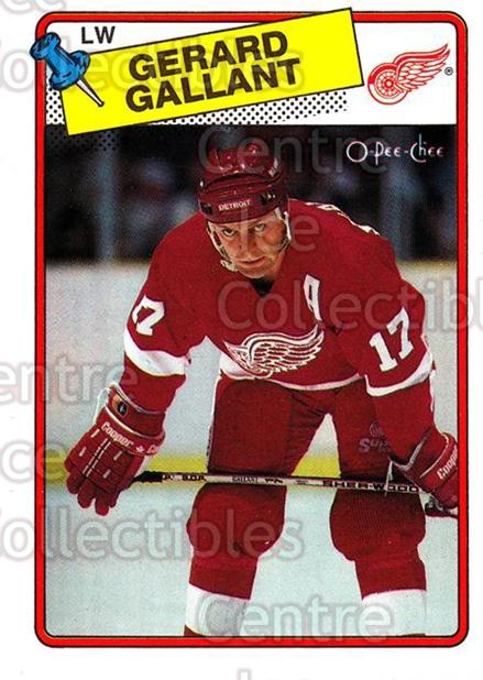 1988-89 O-Pee-Chee #12 Gerard Gallant<br/>10 In Stock - $1.00 each - <a href=https://centericecollectibles.foxycart.com/cart?name=1988-89%20O-Pee-Chee%20%2312%20Gerard%20Gallant...&quantity_max=10&price=$1.00&code=22150 class=foxycart> Buy it now! </a>