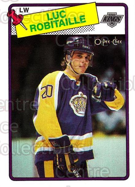 1988-89 O-Pee-Chee #124 Luc Robitaille<br/>10 In Stock - $2.00 each - <a href=https://centericecollectibles.foxycart.com/cart?name=1988-89%20O-Pee-Chee%20%23124%20Luc%20Robitaille...&quantity_max=10&price=$2.00&code=22152 class=foxycart> Buy it now! </a>