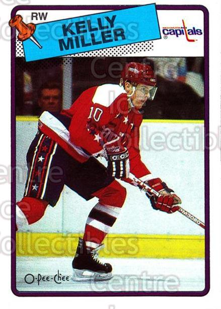 1988-89 O-Pee-Chee #130 Kelly Miller<br/>10 In Stock - $1.00 each - <a href=https://centericecollectibles.foxycart.com/cart?name=1988-89%20O-Pee-Chee%20%23130%20Kelly%20Miller...&quantity_max=10&price=$1.00&code=22159 class=foxycart> Buy it now! </a>