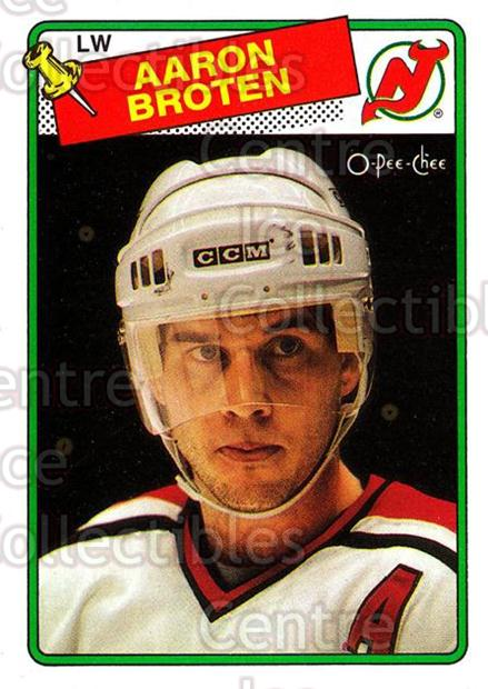 1988-89 O-Pee-Chee #138 Aaron Broten<br/>10 In Stock - $1.00 each - <a href=https://centericecollectibles.foxycart.com/cart?name=1988-89%20O-Pee-Chee%20%23138%20Aaron%20Broten...&quantity_max=10&price=$1.00&code=22167 class=foxycart> Buy it now! </a>
