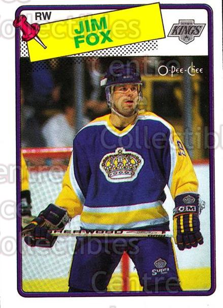 1988-89 O-Pee-Chee #139 Jim Fox<br/>10 In Stock - $1.00 each - <a href=https://centericecollectibles.foxycart.com/cart?name=1988-89%20O-Pee-Chee%20%23139%20Jim%20Fox...&price=$1.00&code=22168 class=foxycart> Buy it now! </a>