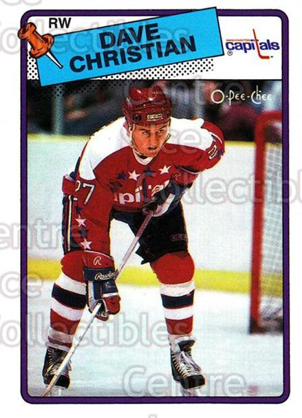 1988-89 O-Pee-Chee #14 Dave Christian<br/>11 In Stock - $1.00 each - <a href=https://centericecollectibles.foxycart.com/cart?name=1988-89%20O-Pee-Chee%20%2314%20Dave%20Christian...&quantity_max=11&price=$1.00&code=22169 class=foxycart> Buy it now! </a>