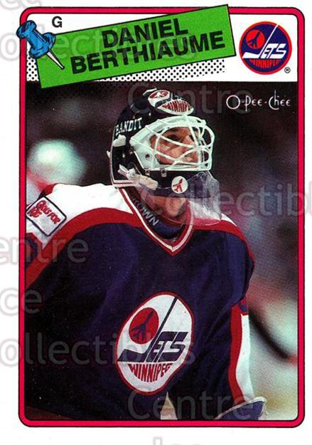 1988-89 O-Pee-Chee #142 Daniel Berthiaume<br/>10 In Stock - $1.00 each - <a href=https://centericecollectibles.foxycart.com/cart?name=1988-89%20O-Pee-Chee%20%23142%20Daniel%20Berthiau...&quantity_max=10&price=$1.00&code=22172 class=foxycart> Buy it now! </a>