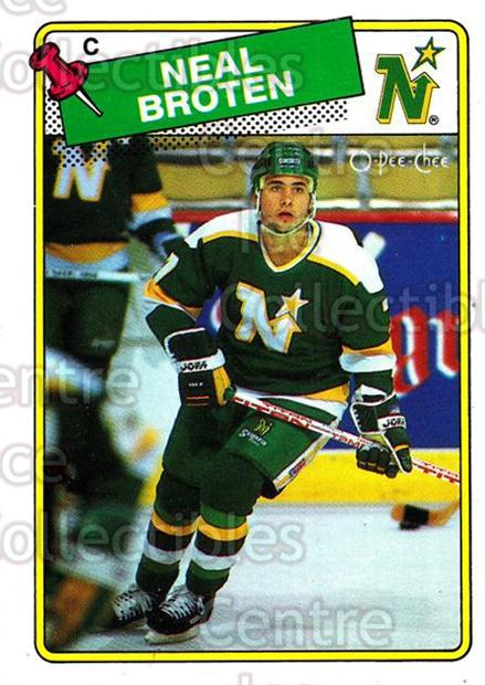 1988-89 O-Pee-Chee #144 Neal Broten<br/>10 In Stock - $1.00 each - <a href=https://centericecollectibles.foxycart.com/cart?name=1988-89%20O-Pee-Chee%20%23144%20Neal%20Broten...&quantity_max=10&price=$1.00&code=22174 class=foxycart> Buy it now! </a>
