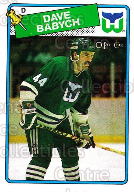 1988-89 O-Pee-Chee #164 Dave Babych<br/>8 In Stock - $1.00 each - <a href=https://centericecollectibles.foxycart.com/cart?name=1988-89%20O-Pee-Chee%20%23164%20Dave%20Babych...&quantity_max=8&price=$1.00&code=22194 class=foxycart> Buy it now! </a>