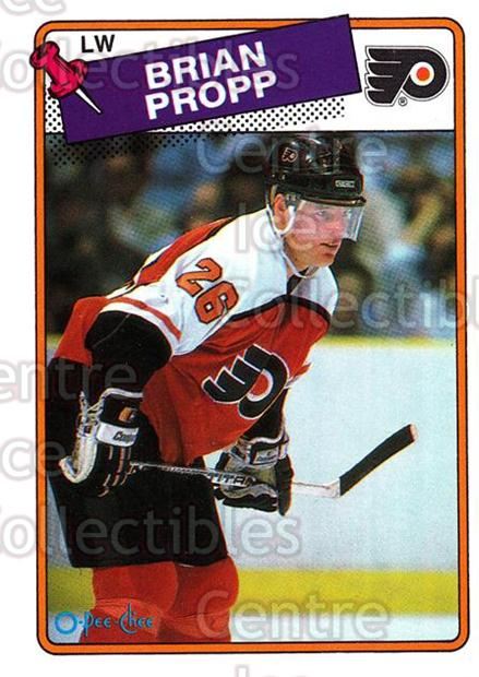 1988-89 O-Pee-Chee #168 Brian Propp<br/>12 In Stock - $1.00 each - <a href=https://centericecollectibles.foxycart.com/cart?name=1988-89%20O-Pee-Chee%20%23168%20Brian%20Propp...&quantity_max=12&price=$1.00&code=22197 class=foxycart> Buy it now! </a>