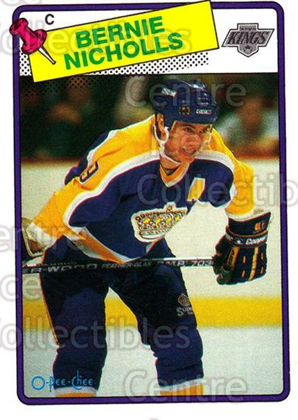 1988-89 O-Pee-Chee #169 Bernie Nicholls<br/>9 In Stock - $1.00 each - <a href=https://centericecollectibles.foxycart.com/cart?name=1988-89%20O-Pee-Chee%20%23169%20Bernie%20Nicholls...&quantity_max=9&price=$1.00&code=22198 class=foxycart> Buy it now! </a>