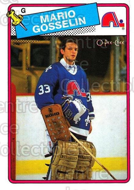 1988-89 O-Pee-Chee #173 Mario Gosselin<br/>3 In Stock - $1.00 each - <a href=https://centericecollectibles.foxycart.com/cart?name=1988-89%20O-Pee-Chee%20%23173%20Mario%20Gosselin...&quantity_max=3&price=$1.00&code=22203 class=foxycart> Buy it now! </a>