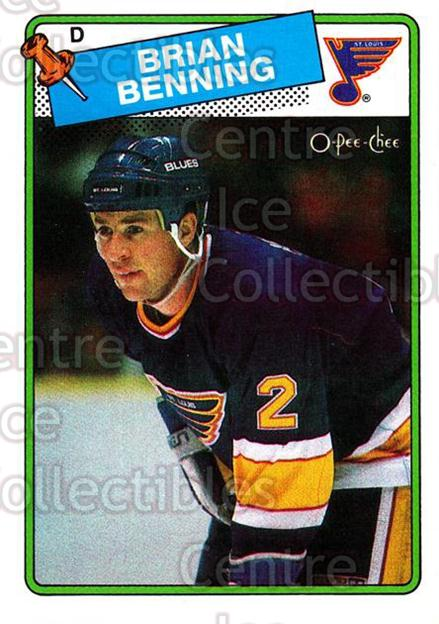 1988-89 O-Pee-Chee #174 Brian Benning<br/>11 In Stock - $1.00 each - <a href=https://centericecollectibles.foxycart.com/cart?name=1988-89%20O-Pee-Chee%20%23174%20Brian%20Benning...&quantity_max=11&price=$1.00&code=22204 class=foxycart> Buy it now! </a>