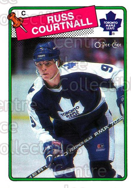 1988-89 O-Pee-Chee #183 Russ Courtnall<br/>7 In Stock - $1.00 each - <a href=https://centericecollectibles.foxycart.com/cart?name=1988-89%20O-Pee-Chee%20%23183%20Russ%20Courtnall...&quantity_max=7&price=$1.00&code=22212 class=foxycart> Buy it now! </a>