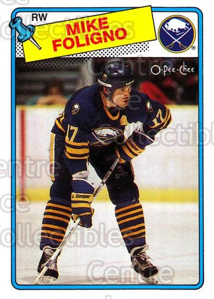 1988-89 O-Pee-Chee #184 Mike Foligno<br/>12 In Stock - $1.00 each - <a href=https://centericecollectibles.foxycart.com/cart?name=1988-89%20O-Pee-Chee%20%23184%20Mike%20Foligno...&quantity_max=12&price=$1.00&code=22213 class=foxycart> Buy it now! </a>