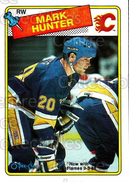 1988-89 O-Pee-Chee #187 Mark Hunter<br/>9 In Stock - $1.00 each - <a href=https://centericecollectibles.foxycart.com/cart?name=1988-89%20O-Pee-Chee%20%23187%20Mark%20Hunter...&quantity_max=9&price=$1.00&code=22216 class=foxycart> Buy it now! </a>