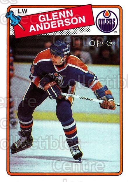 1988-89 O-Pee-Chee #189 Glenn Anderson<br/>7 In Stock - $1.00 each - <a href=https://centericecollectibles.foxycart.com/cart?name=1988-89%20O-Pee-Chee%20%23189%20Glenn%20Anderson...&quantity_max=7&price=$1.00&code=22218 class=foxycart> Buy it now! </a>
