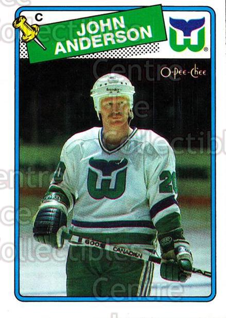 1988-89 O-Pee-Chee #190 John Anderson<br/>11 In Stock - $1.00 each - <a href=https://centericecollectibles.foxycart.com/cart?name=1988-89%20O-Pee-Chee%20%23190%20John%20Anderson...&quantity_max=11&price=$1.00&code=22220 class=foxycart> Buy it now! </a>