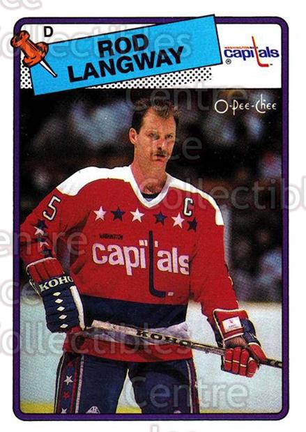 1988-89 O-Pee-Chee #192 Rod Langway<br/>12 In Stock - $1.00 each - <a href=https://centericecollectibles.foxycart.com/cart?name=1988-89%20O-Pee-Chee%20%23192%20Rod%20Langway...&quantity_max=12&price=$1.00&code=22222 class=foxycart> Buy it now! </a>