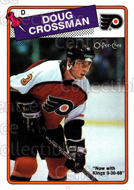 1988-89 O-Pee-Chee #197 Doug Crossman<br/>9 In Stock - $1.00 each - <a href=https://centericecollectibles.foxycart.com/cart?name=1988-89%20O-Pee-Chee%20%23197%20Doug%20Crossman...&quantity_max=9&price=$1.00&code=22225 class=foxycart> Buy it now! </a>